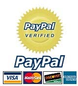 Credit Cards Accepted through Paypal